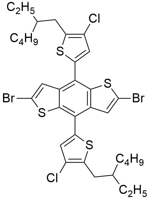 2,6-Dibromo-4,8-bis(4-chloro-5-(2-ethylhexyl)thiophen-2-yl)benzo[1,2-b:4,5-b']dithiophene