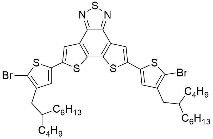 5,8-Bis(5-bromo-4-(2-butyloctyl)thiophen-2-yl)dithieno[3',2':3,4;2'',3'':5,6]benzo[1,2-c][1,2,5]thiadiazole